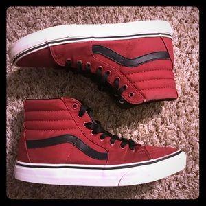 Red and black Vans